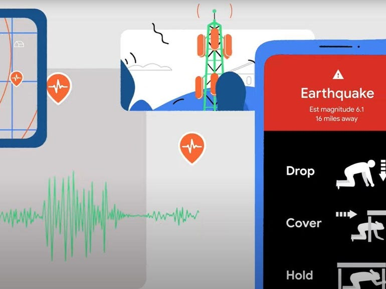 Google to introduce earthquake detection alerts to Android | ZDNet