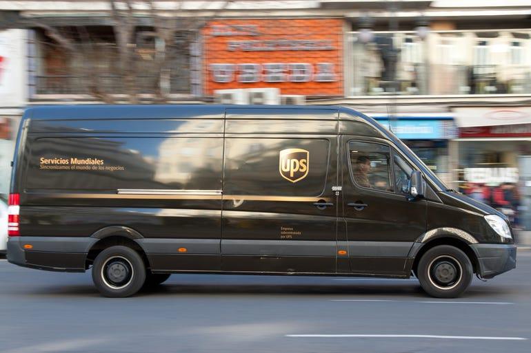 UPS van