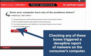 Office Depot PC Health Check questionnaire
