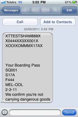 Check-in SMS