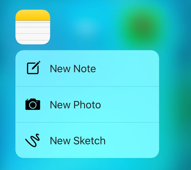 3D Touch for Notes