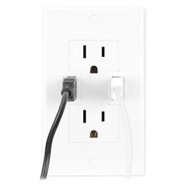 Power2U ($29.99) AC/USB wall outlet from Newer Technology