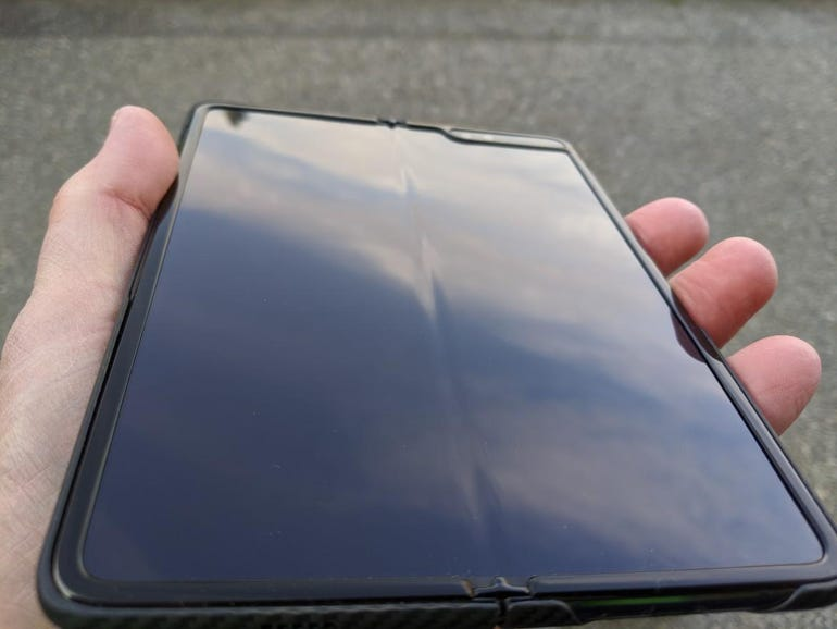The foldable part is clearly visible and touchable