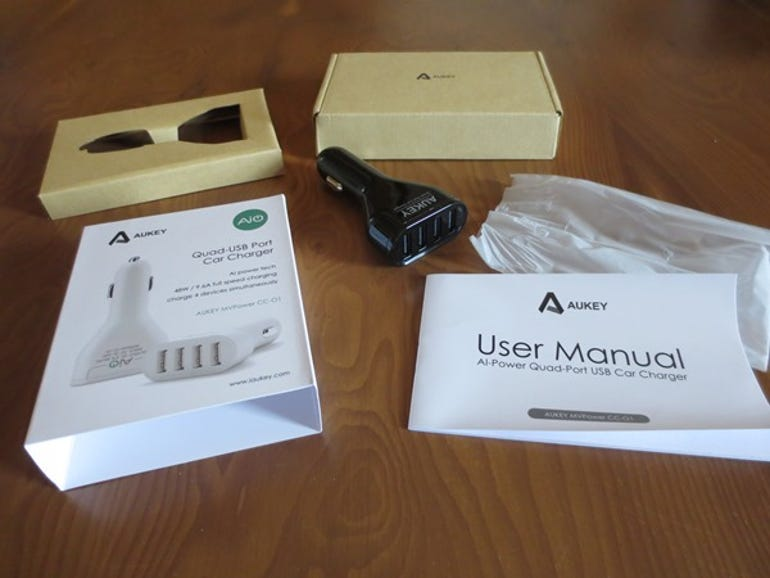 Review: Aukey Quad USB Port Car Charger ZDNet Eileen Brown