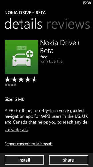 Nokia Drive+ Beta now available for other WP8 devices