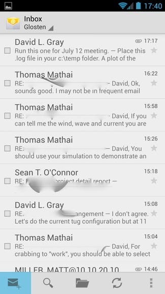 Exchange email on Google Edition One
