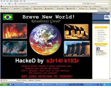 Screenshot of the hacked IDC page