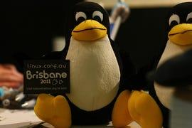 Tux at Linux.conf.au 2011