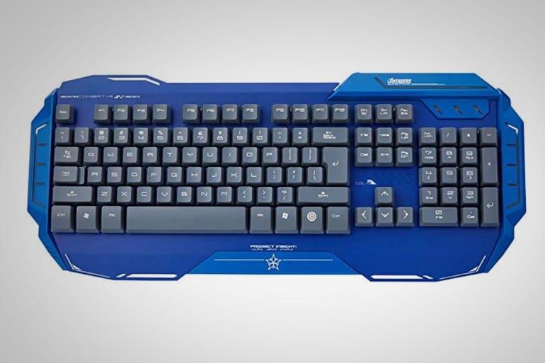 Captain America Alu-metal Gaming Keyboard ($48)