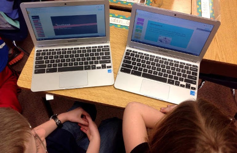 Chromebooks in school