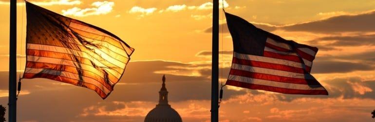 us-flags-washington-capitol-united-states