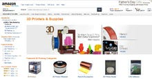 Amazon launches online store for 3D printers