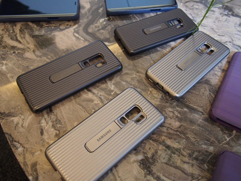 Official Samsung case with a kickstand
