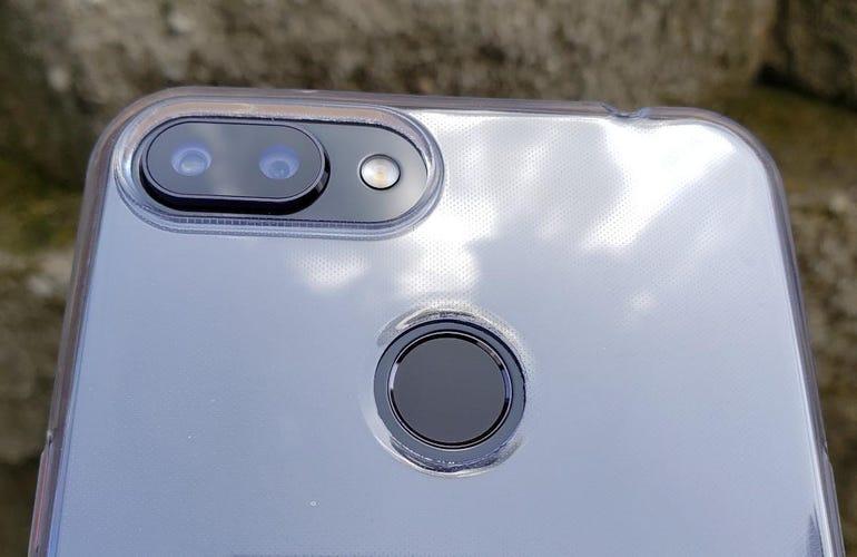 Rear camera array and fingerprint sensor