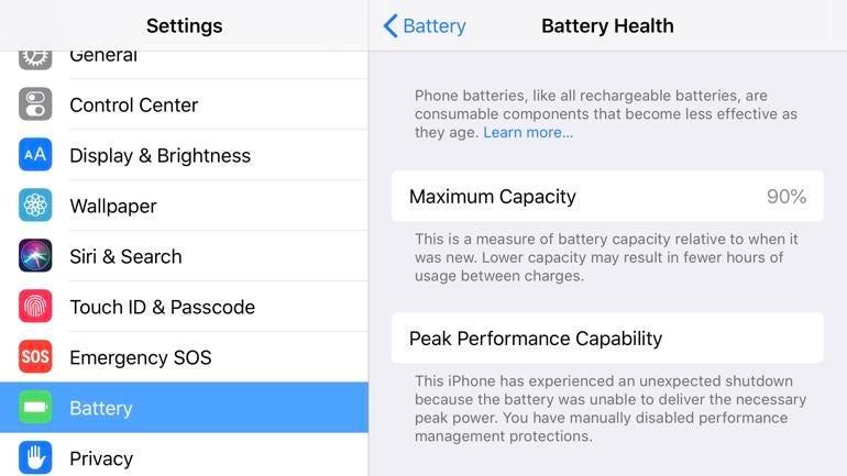 Check battery health