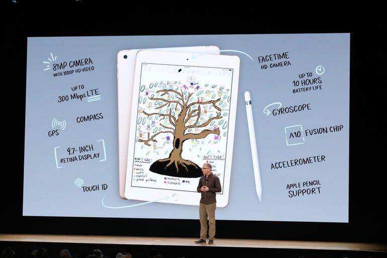 Specs for Apple's new iPad