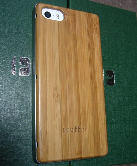 iPhone with bamboo back in place