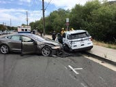 Tesla Model S allegedly in Autopilot hits parked police car