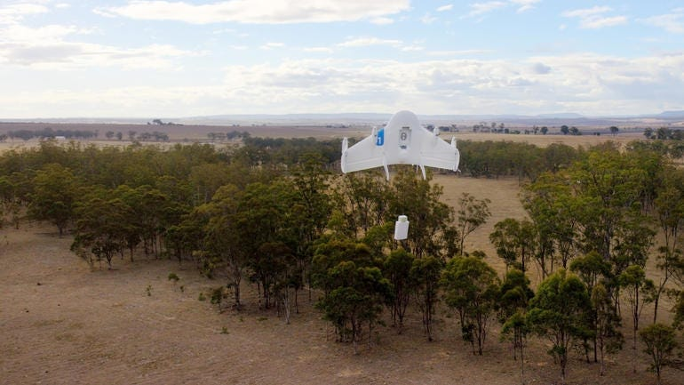A UAV from Google's own drone effort, Project Wing