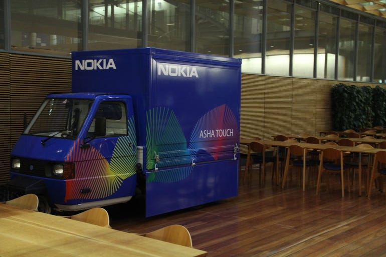 Nokia's beach promo van