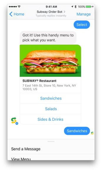 Shop with Subway