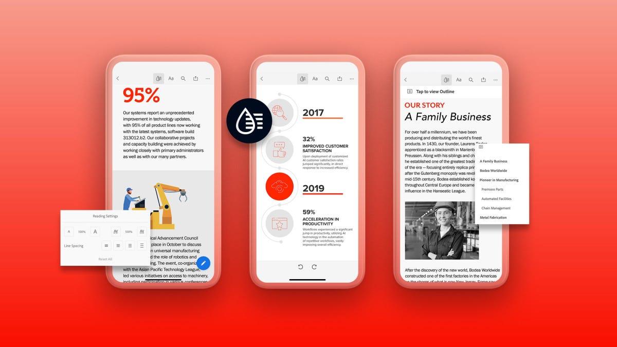 Adobe: Liquid Mode, un outil d'IA qui reformate automatiquement les PDF pour les petits écrans
