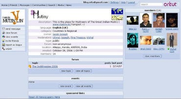 Orkut screen Indian