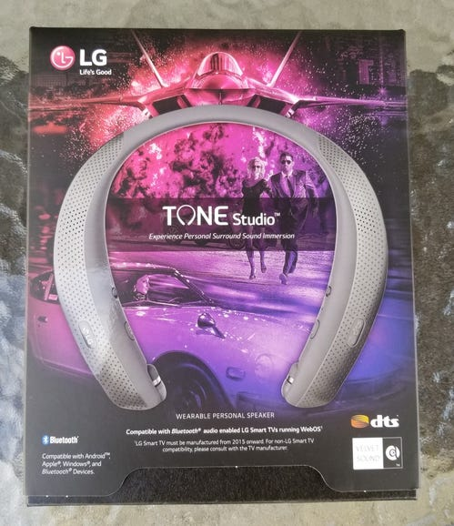 LG Tone Studio retail package