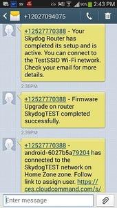 Skydog SMS alerts