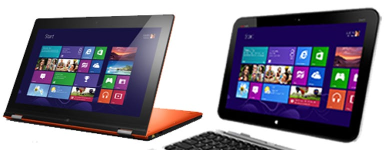 HP and Lenovo side-by-side