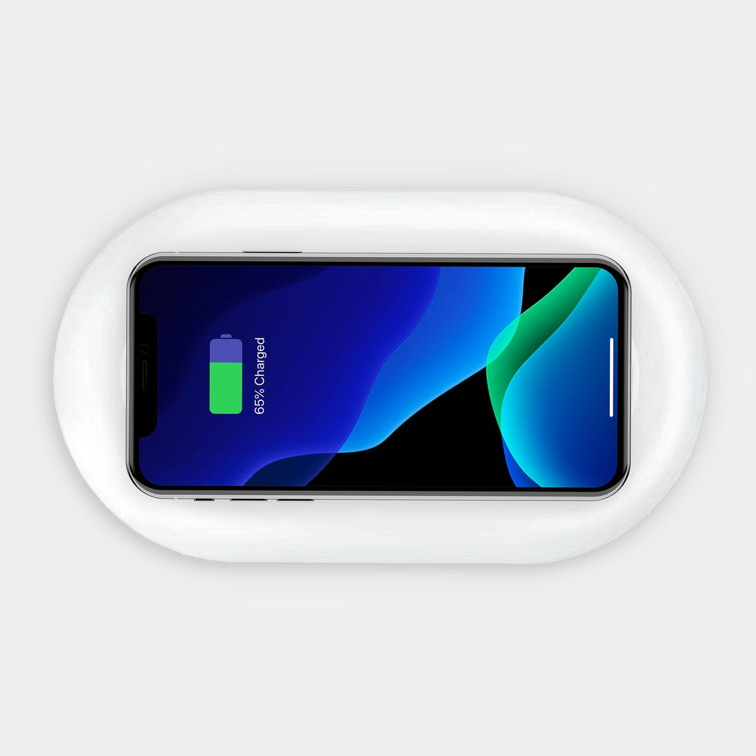 Totallee UV phone sanitizer with built-in wireless charger