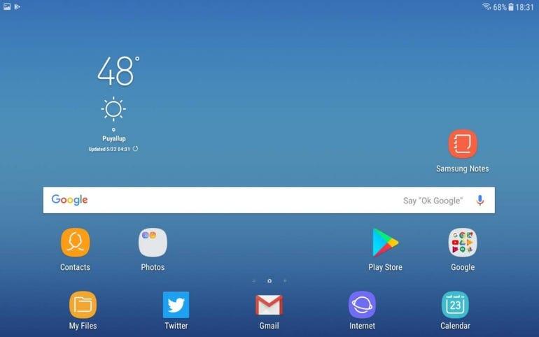 Default home screen panel