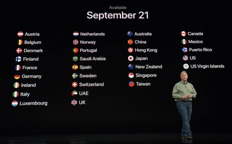 iPhone XS and iPhone XS Max availability