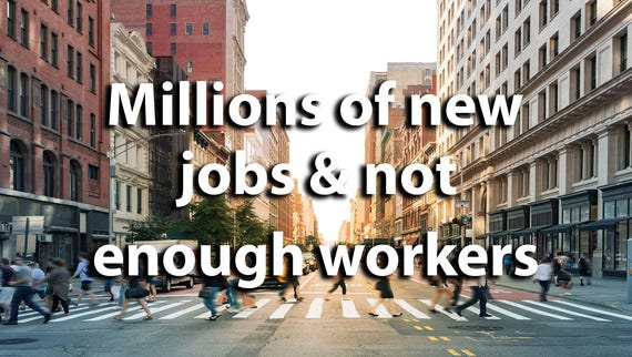 Millions of jobs and not enough workers: How tech will transform the labor market