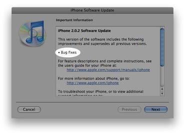 Apple releases iPhone 2.0.2 firmware sans changelog