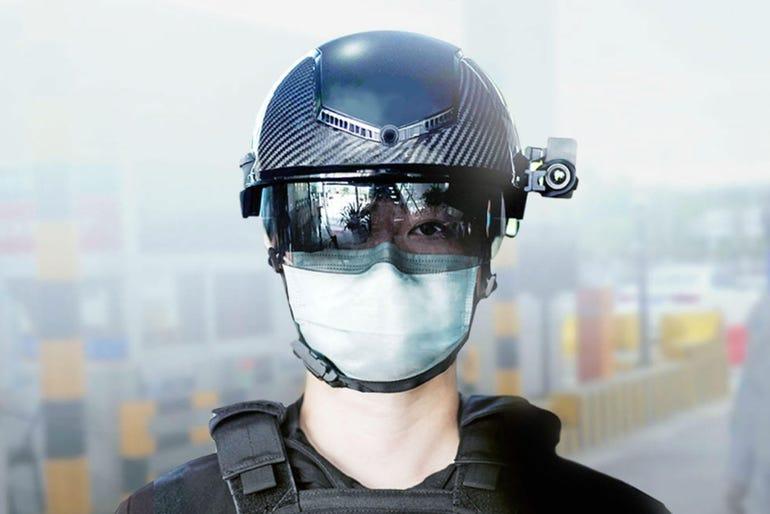 Fever-detecting helmets