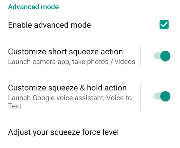 Dual actions available