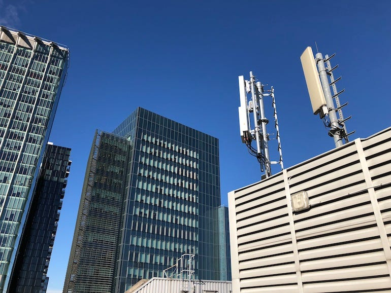 5G masts in London