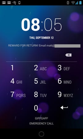 Android - Lock screen