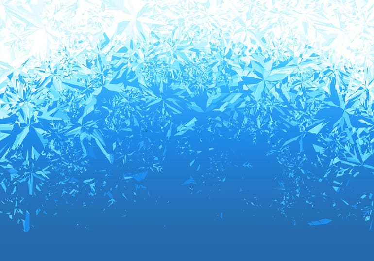 Ice frosted background