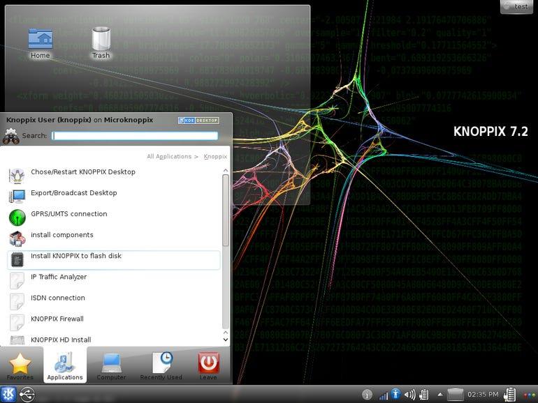 Knoppix KDE