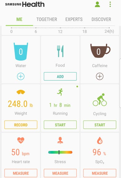 Samsung Health is a complete fitness solution