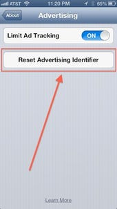 About the new 'Reset Advertising Identifier' button in iOS 6.1 - Jason O'Grady