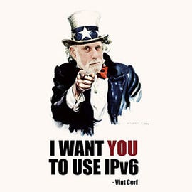 Vince Cerf, one of the Internet's fathers, wants you to use IPv6.