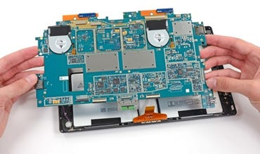 Mainboard from the Surface Pro 2