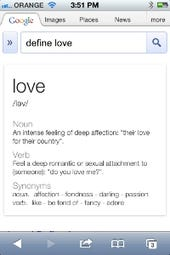 Google-define-love