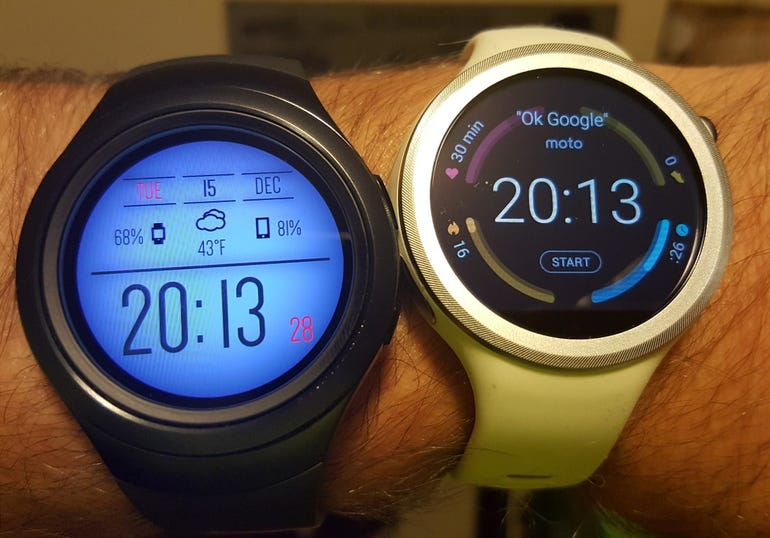 Gear S2 3G and Moto 360 Sport