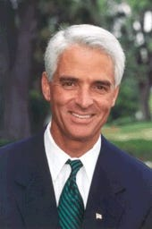Charlie Crist is actually the Governor of Florida. But what hair!