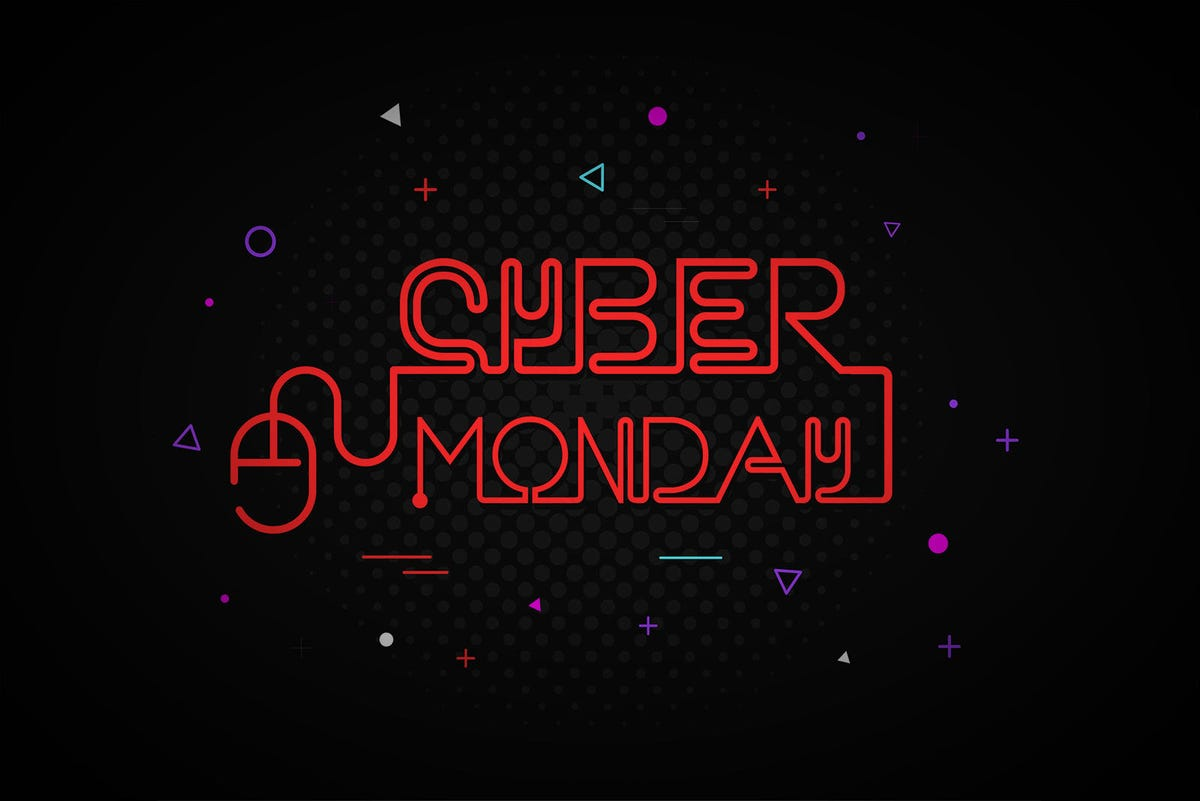 Cyber Monday poster vector illustration