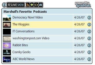 SplashCast podcast playlist